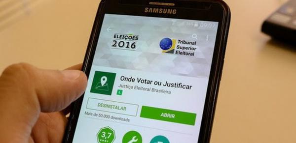 """Aplicativo """"Onde votar"""" (Foto: Divulgação/TRE)"""