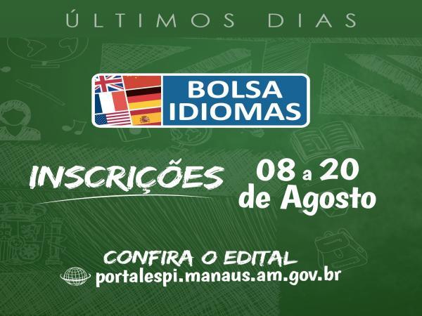 Inscrições para o Programa Bolsa Idiomas terminam domingo