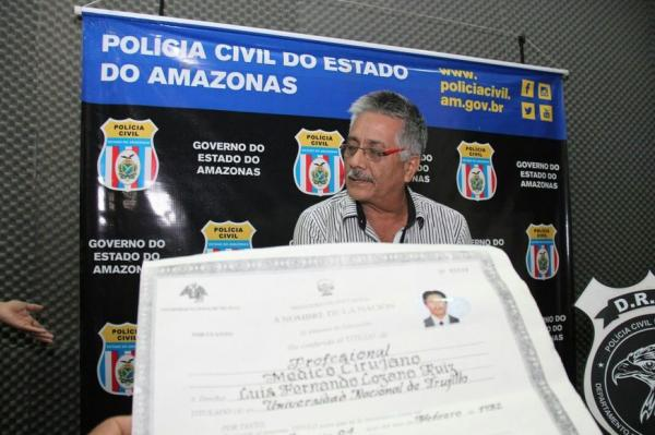 Falso médico peruano é preso acusado de extorquir pacientes com câncer em Manaus