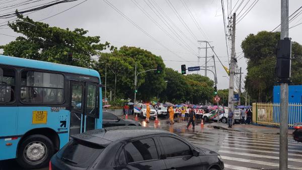 Manifestantes em