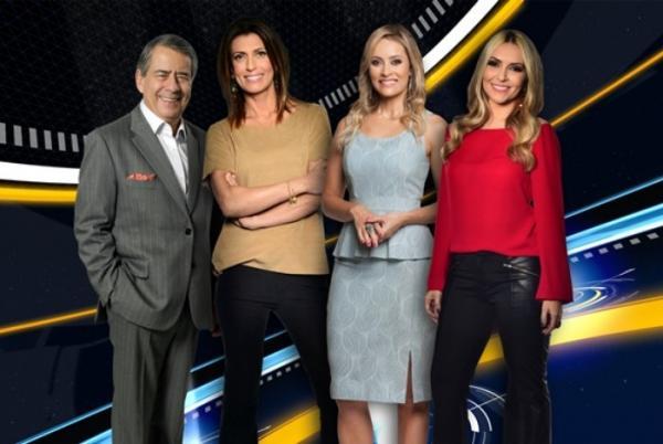 Paulo Henrique Amorim, Thalita Oliveira, Patricia Costa, Janine Borba (Foto: Divulgação)