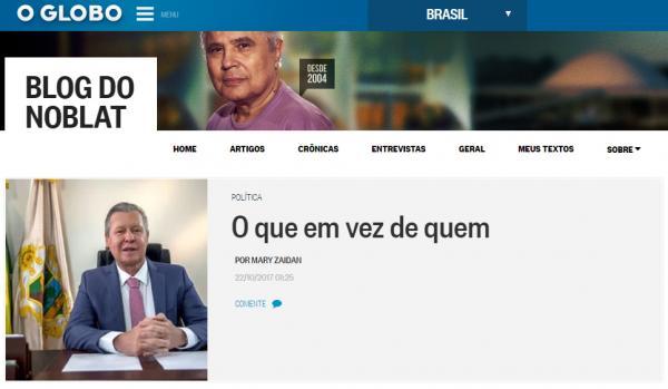 Jornal O Globo diz que Arthur mexeu com tucanos e com o PMDB