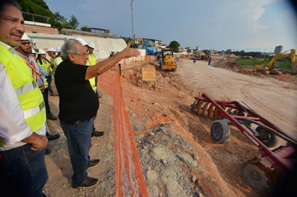 Amazonino determina ampliação da obra da ligação viária Luiz Antony, na Zona Sul de Manaus