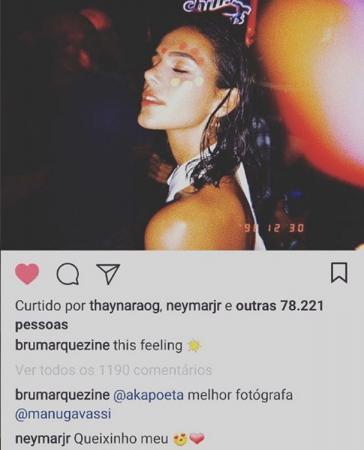 Neymar manda recado fofo em foto de Marquezine: