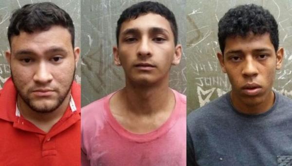 Trio é preso após realizar arrastões e trocar tiros com a PM no bairro Alvorada