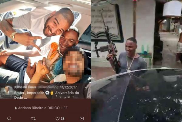 Adriano Imperador tirou foto com bandido que aparece em vídeo armado na Maré