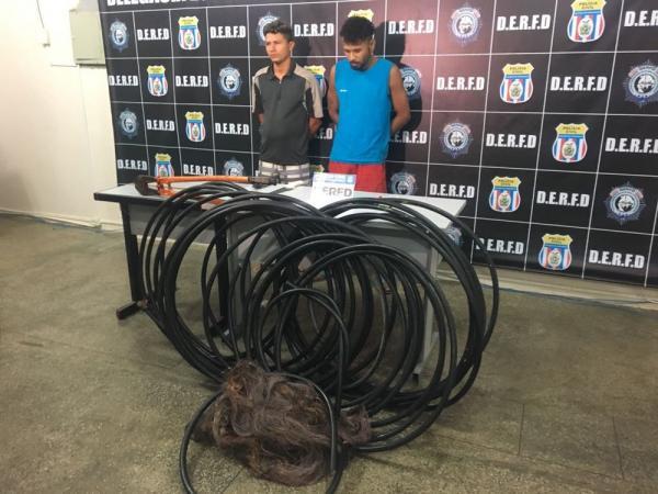 Dupla é presa por furto de cabos de fibra óptica em bairros de Manaus