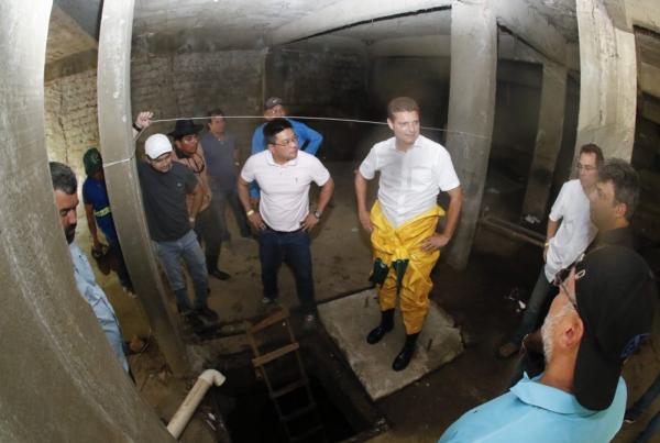 Com inspeção técnica, prefeitura dá largada para projeto na rede subterrânea da Djalma Batista