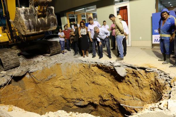 Prefeitura de Manaus inicia trabalhos para recuperar drenagem na Djalma Batista