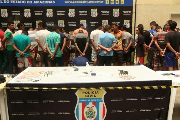 Operação Jejuardes prende 74 pessoas e apreende 9 em dois dias, em Manaus