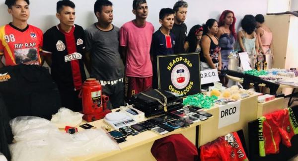 SSP-AM prende onze pessoas com mais de 1 mil porções de drogas em Manaus
