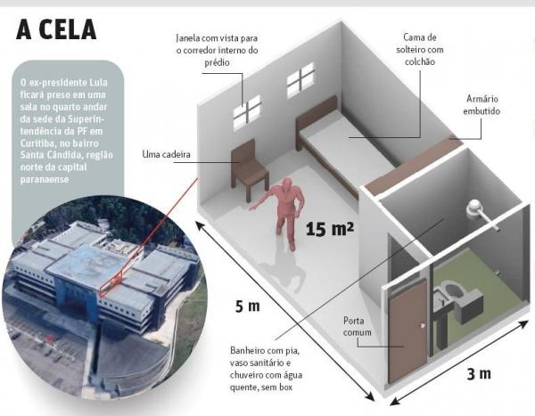 'Sala especial' em que Lula ficará preso é um direito previsto em lei