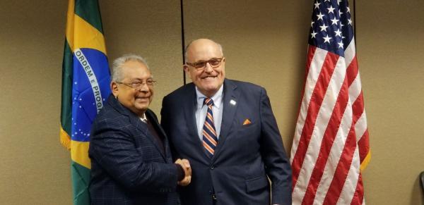 Amazonas é primeiro no Brasil a ter consultoria de Rudolph Giuliani, que reduziu em mais da metade crimes em Nova York