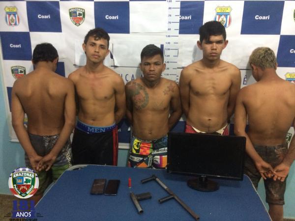 Quadrilha de assaltantes a residências que aterrorizava moradores é presa no Amazonas