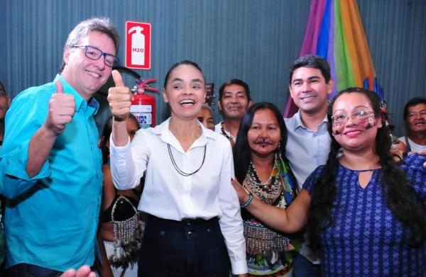 Marina Silva lança pré-candidaturas durante evento na ALEAM, em Manaus
