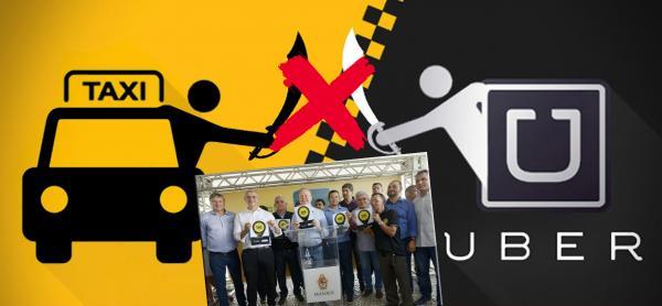 Arthur Neto sela a paz entre taxistas e motoristas da Uber