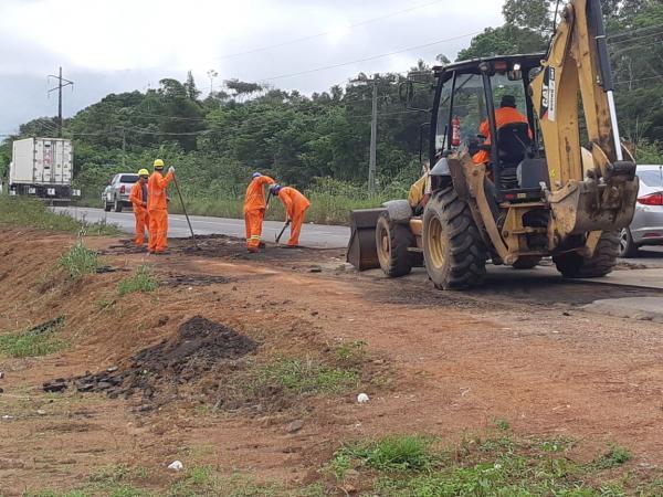 Condutores devem ficar atentos para trechos em obras da rodovia AM-070