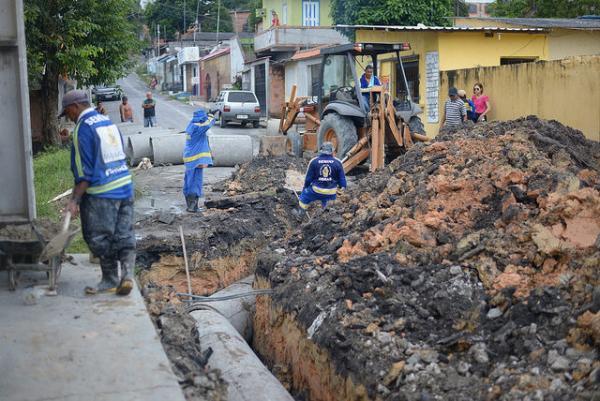 Seminf contém alagamentos no bairro Nossa Senhora de Fátima
