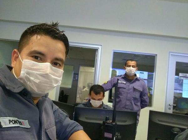 Após caso suspeito de meningite servidores do Ciops trabalham de máscaras