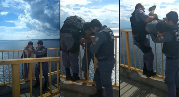 Policiais militares evitam suicídio na Ponte Rio Negro