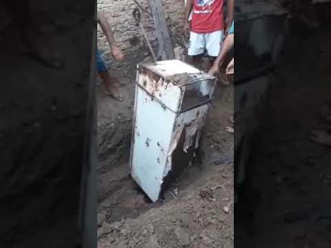 Filho mata e enterra mãe em geladeira no quintal de casa