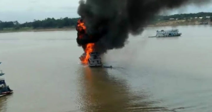 Balsa com combustível explode no interior do Amazonas